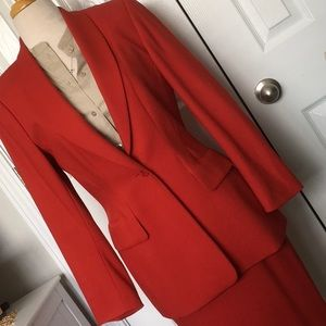 Escada Red Skirt Suit Size 36 & 38